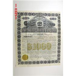 Queen City Railway Co. 1893 Issued Bond