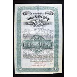 Texas & Sabine Valley Railway Co. 1893.