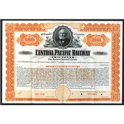 Central Pacific Railway Co. 1899, Specimen $1000, Registered 4% Gold Bond.