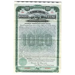 Chicago, Milwaukee & St. Paul Railway Co., 1889 Specimen Bond