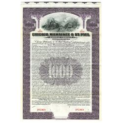 Chicago, Milwaukee & St. Paul Railway Co., 1912 Specimen Bond