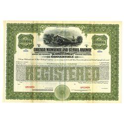 Chicago, Milwaukee & St. Paul Railway Co., 1914 Specimen Bond