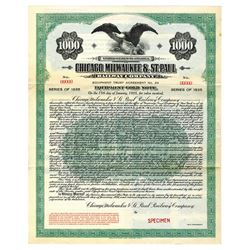 Chicago, Milwaukee & St. Paul Railway Co., 1920 Specimen Bond