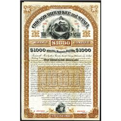 Chicago, Milwaukee and St.Paul Railway Co., 1884 Specimen Bond