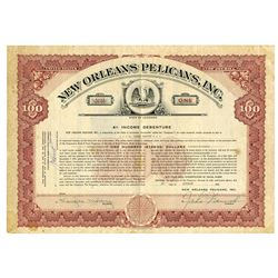 New Orleans Pelicans, Inc., 1955 Issued Bond
