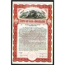 City of Los Angeles, 1923 Specimen Bond