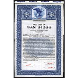 City of San Diego, 1941 Specimen Bond