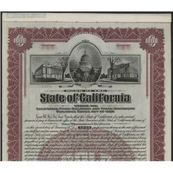 State of California, 1927 Specimen Bond