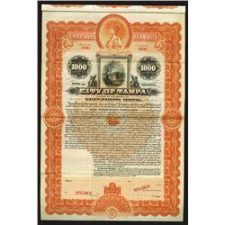 City of Tampa, 1899 Specimen Bond