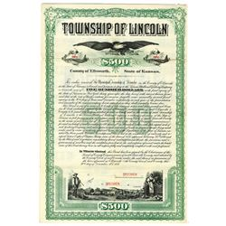 Township of Lincoln, 1887 Specimen Bond