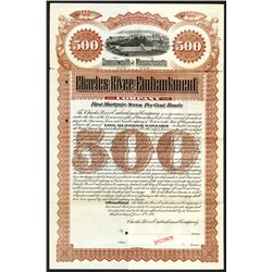 Charles River Embankment Co, 1893 Specimen Bond.