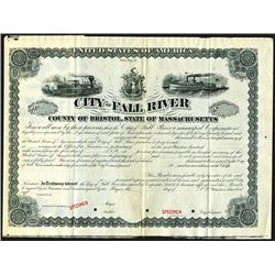 City of Fall River, ca.1900-1910 Specimen Bond.