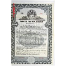 State of Michigan, 1932 Specimen Bond