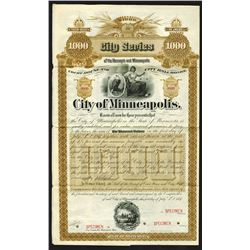 City of Minneapolis, 1887 Specimen Bond