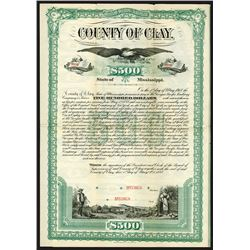 County of Clay, 1888 Specimen Bond