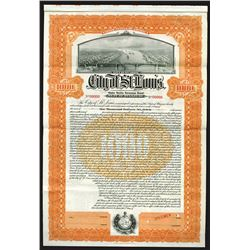City of St. Louis, 1919 Specimen Bond