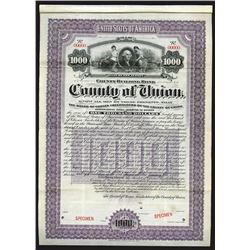 County of Union, 1902 Specimen Bond