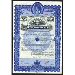 City of New Rochelle, 1899 Specimen Bond