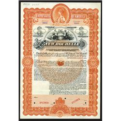 City of New Rochelle, 1900 Specimen Bond