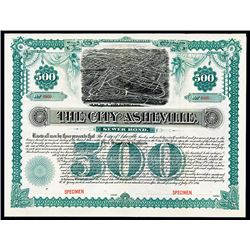 City of Asheville, 1891 Specimen Bond