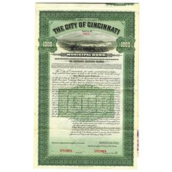 City of Cincinnati, 1903 Specimen Bond