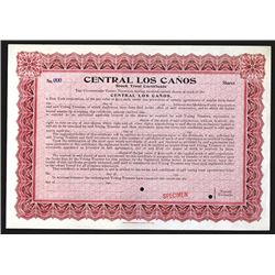 Central Los Canos, Specimen Stock Trust Certificate.