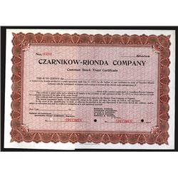 Czarnikow-Rionda Co., Specimen Trust Certificate.