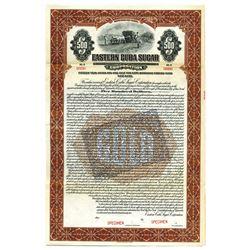 Eastern Cuba Sugar Corp., 1922 Specimen Bond.
