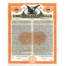 North American Sugar Co., 1923 Specimen Bond.