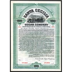 Santa Cecilia Sugar Co., 1905 Specimen Bond.