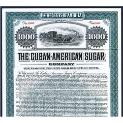 Cuban-American Sugar Co., 1907 Specimen Bond.