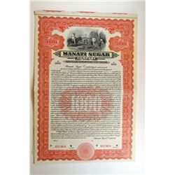 Manati Sugar Co. 1912 Specimen Bond