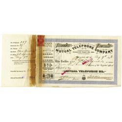 Mutual Telephone Co., 1893 Issued Stock
