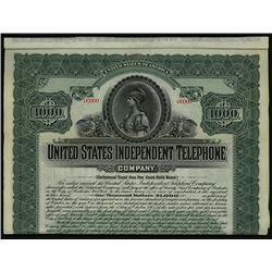 United States Independent Telephone Co., 1905 Specimen Bond