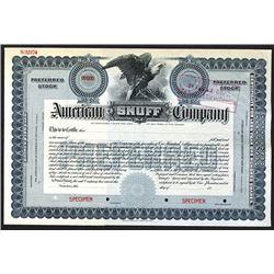 American Snuff Co. ca.1910-1920 Specimen Stock.