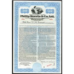 Philip Morris and Co. LTD. 1943 Specimen Bond
