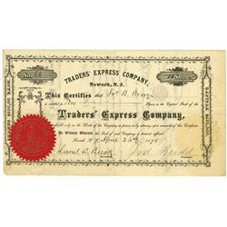 Traders' Express Co., 1873 Issued Stock