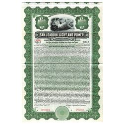 San Joaquin Light and Power Corp., 1910 Specimen Bond
