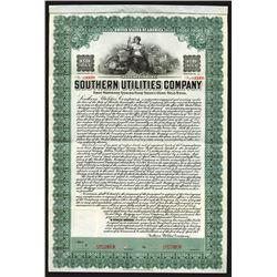 Southern Utilities Co., 1913 Specimen Bond