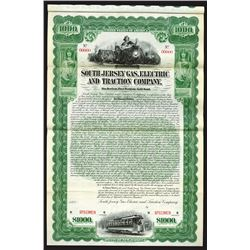 South Jersey Gas, Electric and Traction Co., 1900 Specimen Bond