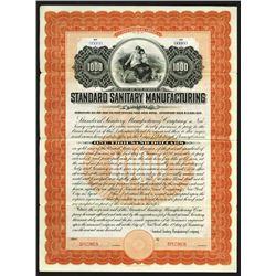 Standard Sanitary Manufacturing Co., 1900 Specimen Bond