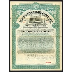 Albion Gas Light Co., 1895 Specimen Bond