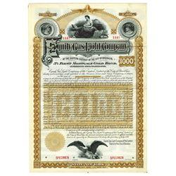 Equity Gas Light Co., 1891 Specimen Bond
