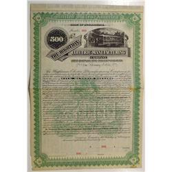 Wightman Electric Manufacturing Co., 1891 Specimen Bond
