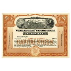 Venezuelan Petroleum Co., ca.1900-1920 Proof Stock Certificate