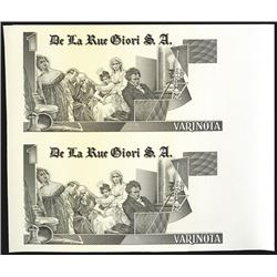 De La Rue Giori Printed Advertising Note Proof on DuraNote Polymer Paper .