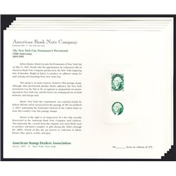 ABNC 1995 Philatelic Cards With Postmaster Provisional and Matching Vignette in 6 Different Colors.