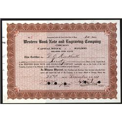 Western Bank Note and Engraving Co., 1913 Issued Stock.