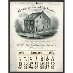 T.A. Bradley Calendar. Albertson Trust & Safe Deposit Co. 1896 full year pad.