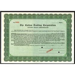 Cotton Trading Corp., Specimen Stock.